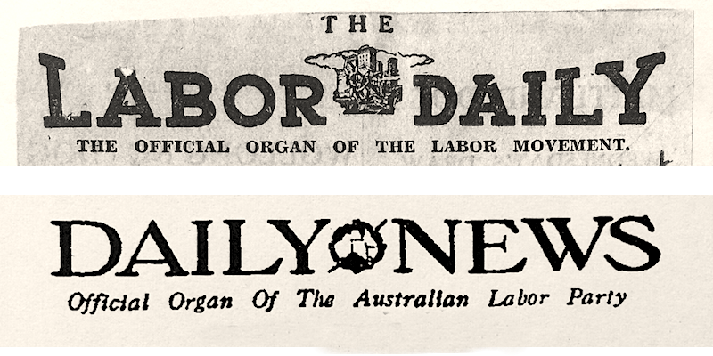 labor daily + daily news mastheads
